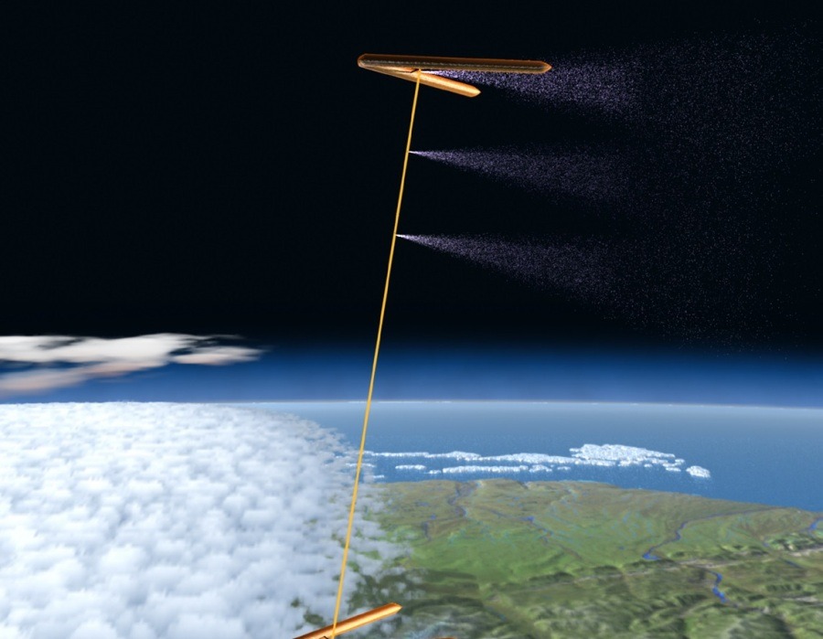 StratoSheild stratospheric spray hose with blimp geoengineering programs
