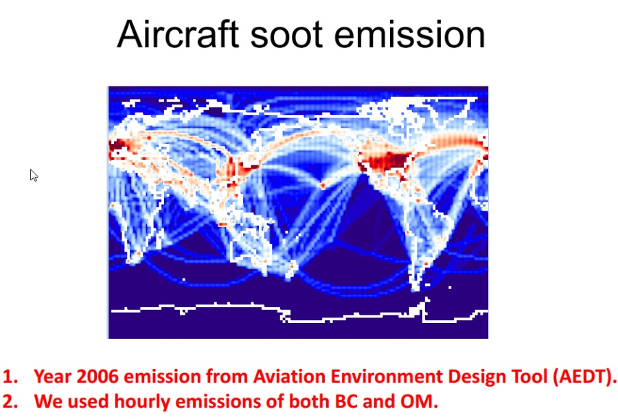 Is the indirect forcing by aircraft soot positive or negative - zhou
