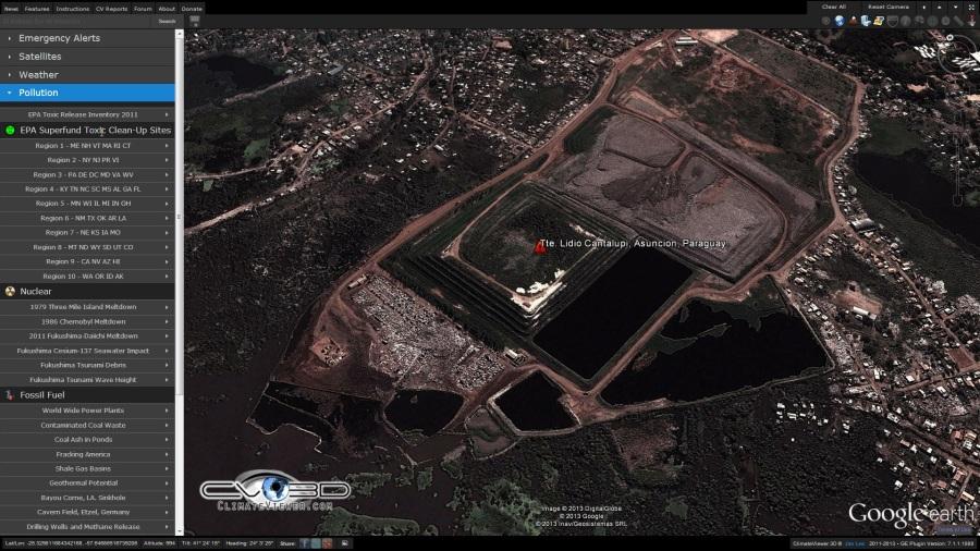 El Bañado Sur de Asunción on ClimateViewer 3D