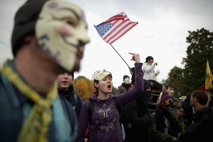 """""""Obama come out, we got some s*** to talk about! TY @RT_com for #MillionMaskMarch coverage!"""