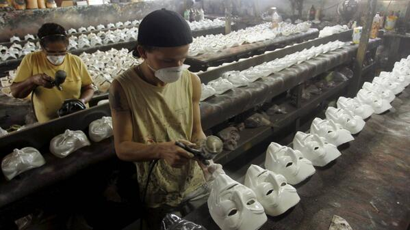 Remember remember the 5th of November... and the sweatshop workers and royalties that Time Warner gets for each mask