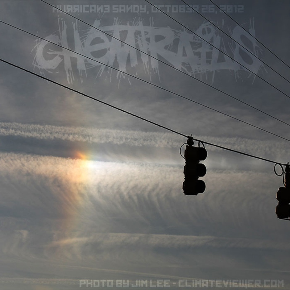 Hurricane Sandy Chemtrails over South Carolina October 26 2012