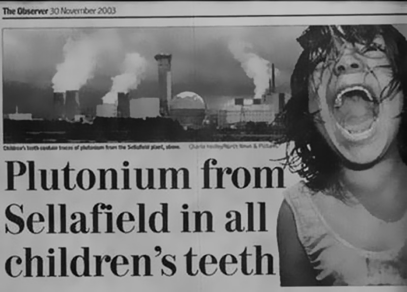 Plutonium from Sellafield in all children's teeth