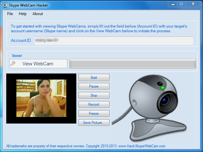 SkypeWebCamHacker