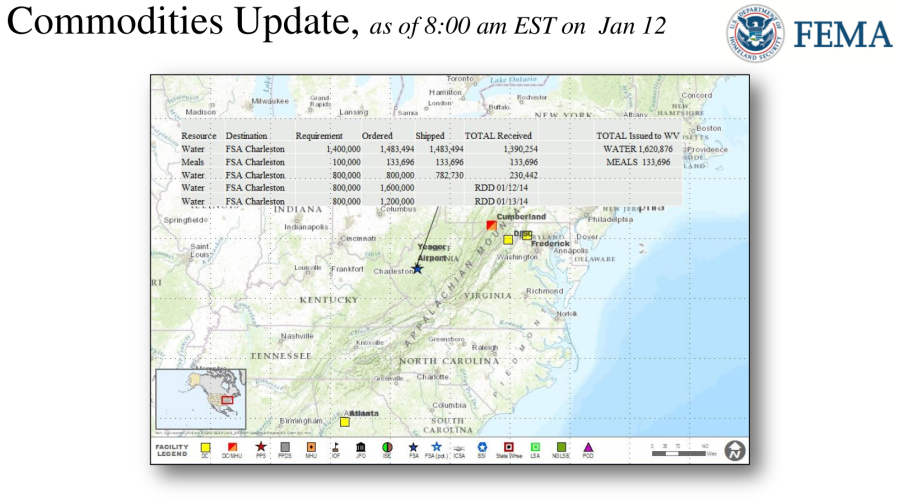 FEMA Daily Operations Briefing December 12, 2014 - Chemical Spill Charleston West Virginia