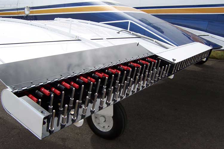Aero Systems Inc silver iodide cloud seeding rack