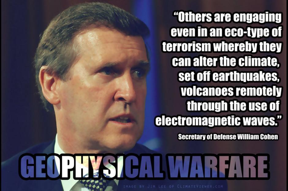 Secretary of Defense William Cohen - Eco-Terrorism and Weather Warfare - Geophysical Warfare