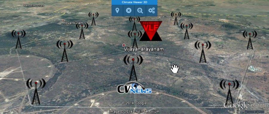AWESOME VLF: VTX1 South Vijayanarayanam, India Multiple broadcast frequencies: Callsign: VTX1 - 16300 Hz Callsign: VTX2 - 17000 Hz Callsign: VTX3 - 18200 Hz Callsign: VTX4 - 19200 Hz