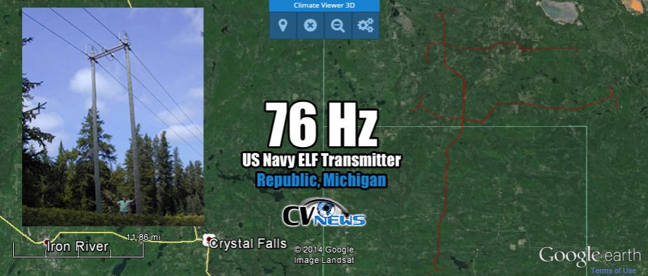 US Navy ELF Transmitter 76Hz Republic, Michigan, USA Second part of two part transmitter