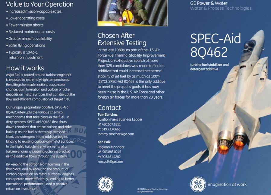 SPEC-Aid 8Q462 turbine fuel stabilizer and detergent additive