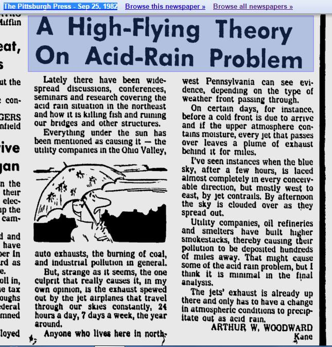 A High Flying Theory on Acid Rain Problem