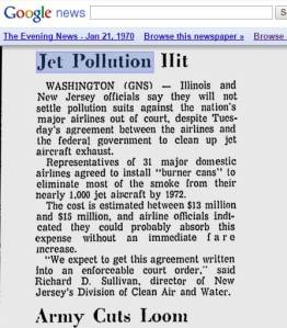 jet pollution hit 1970