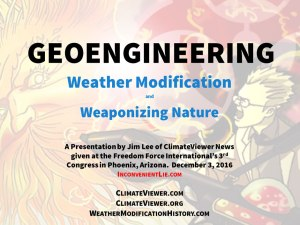 Geoengineering, Weather Modification, and Weaponizing Nature PowerPoint Presentation